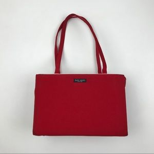 Vintage Kate Spade Red Sam Bag With Snap Purse